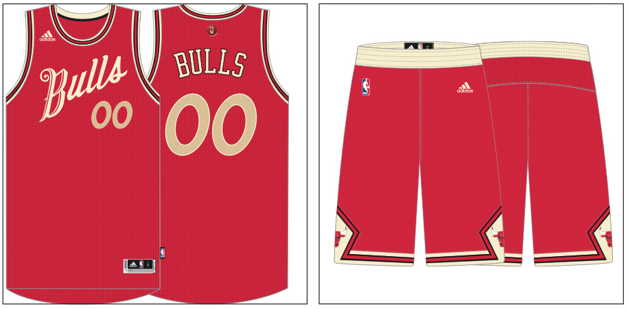 this image is owned by the nba - Chicago Bulls Christmas Jersey